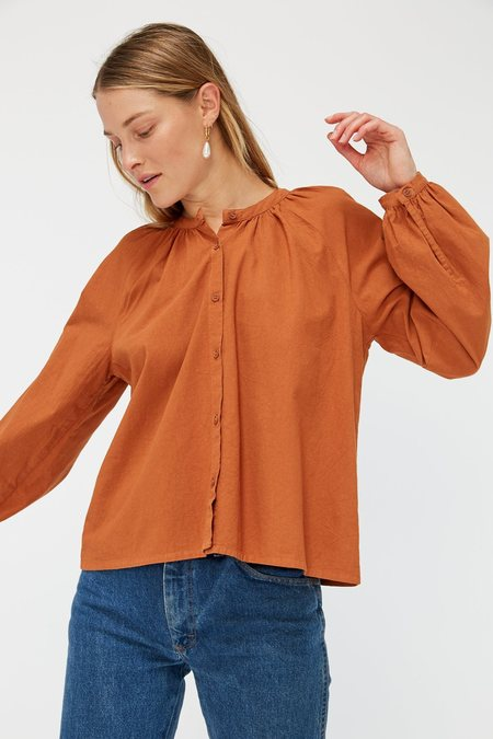 Lacausa Sonnet Blouse - Almond