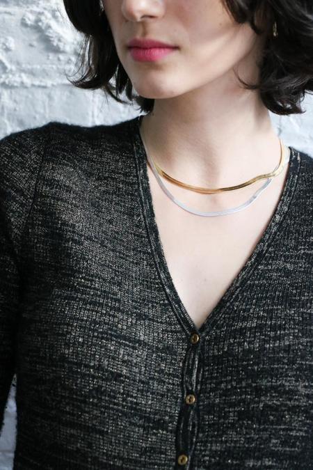 [Pre-loved] Ulla Johnson Bessie Bodysuit - Black/Gold