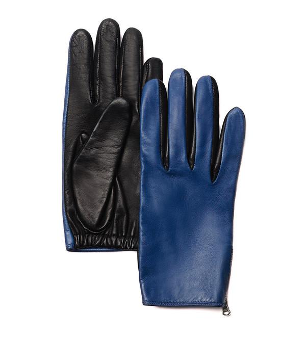 3.1 Phillip Lim Blue/Black Driving Gloves