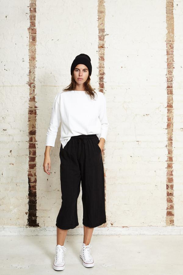 Off Season NYC Zinnia Pant Silk Slub Noile Black
