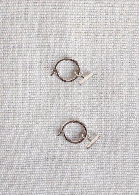 Flash Jewelry Chloe Sleeper Hoops - Sterling Silver