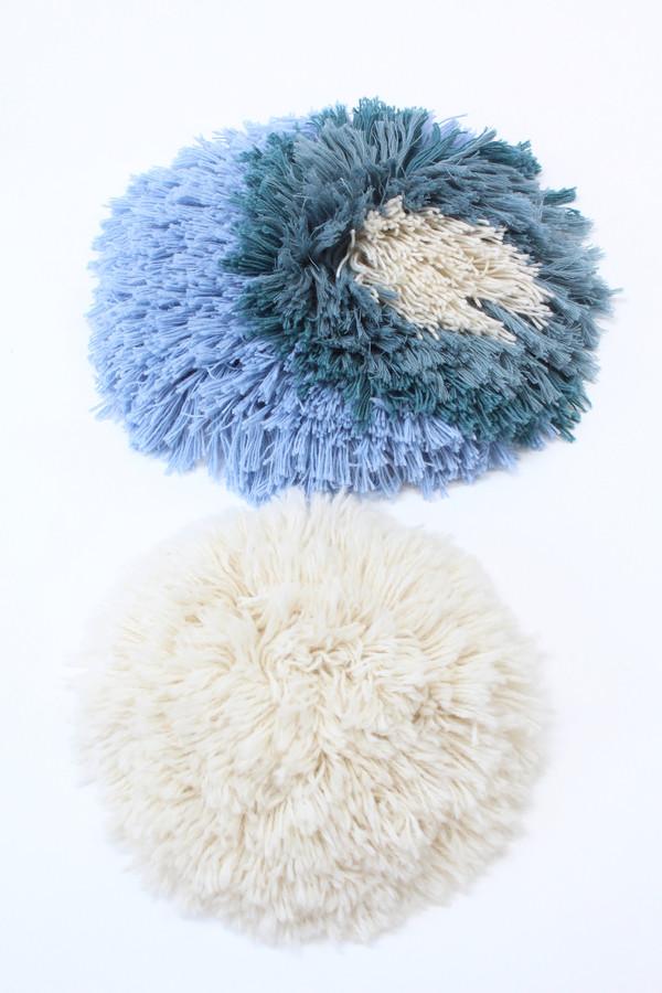 Artist Alpaca Handmade Fringe Pillows Large Blue Mix