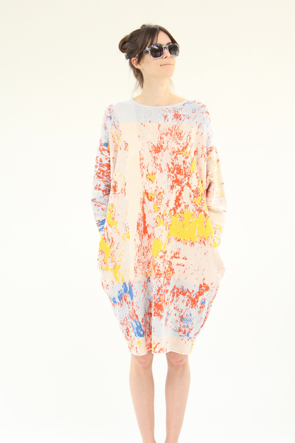 Anntian Easy Knit Sweater Dress