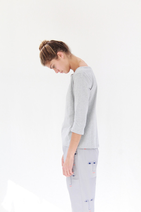 Building Block Boatneck Top Grey