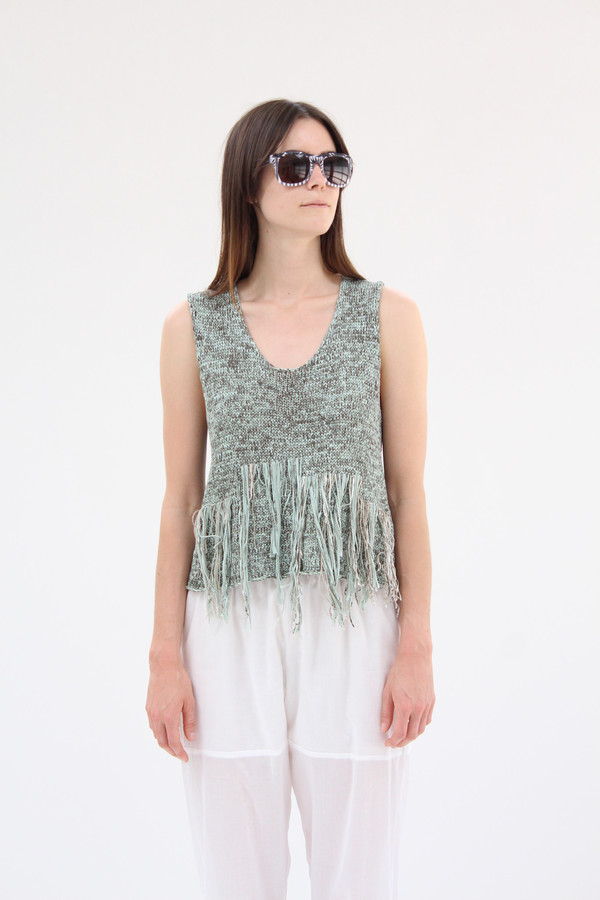 Correll Correll Frans Knit Tank Top Green