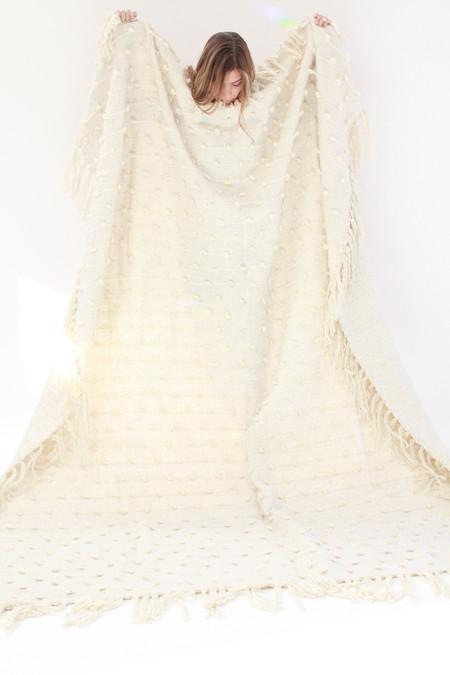 Mexchic Hand Loomed Blanket Cream