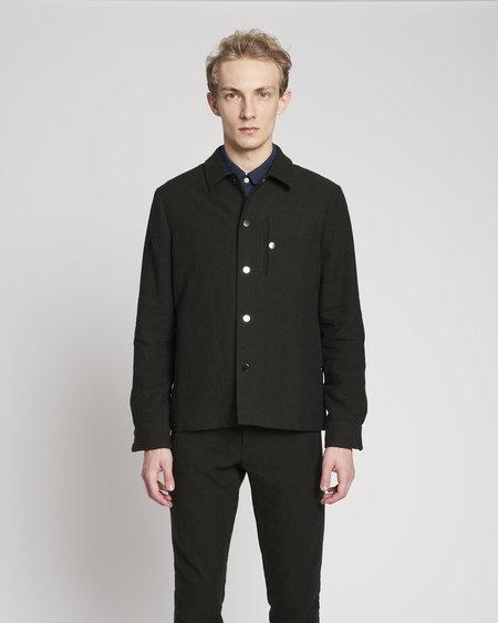 Delikatessen Easy Minimal Italian High End Blend of Virgin Wool and Linen Jacket - Black