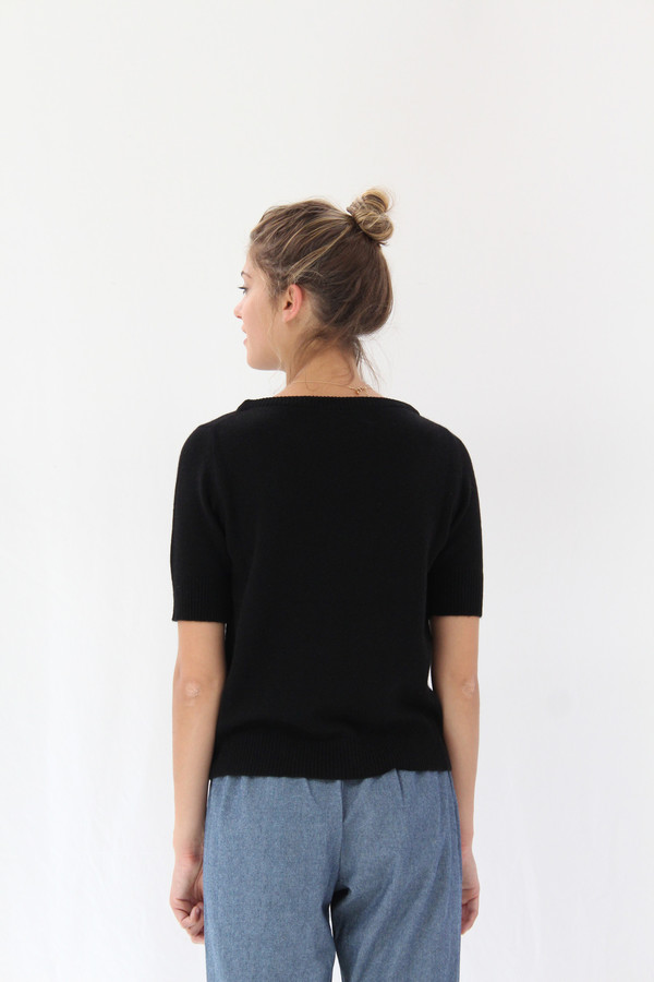 Lina Rennell Cashmere Top Black
