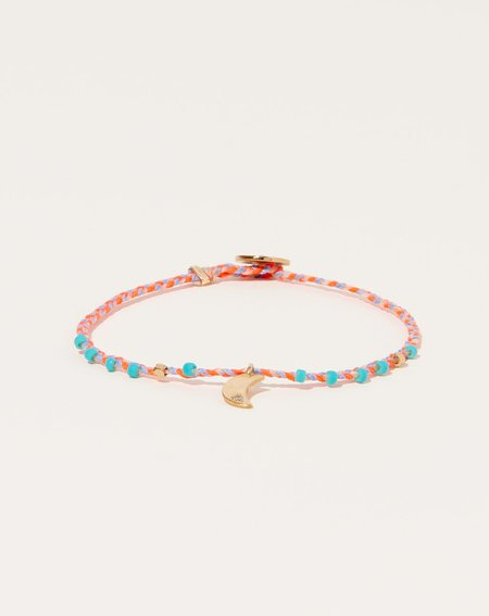 Scosha Easy Going Diamond Moon Charm Bracelet