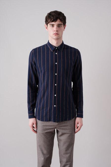Delikatessen Feel Good Shirt in Fine Japanese Herringbone - Navy