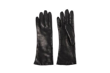 Clyde Lambskin Gloves - Black
