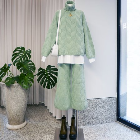 Rachel Comey Neptune Pant - Light Green Chunky Chevron