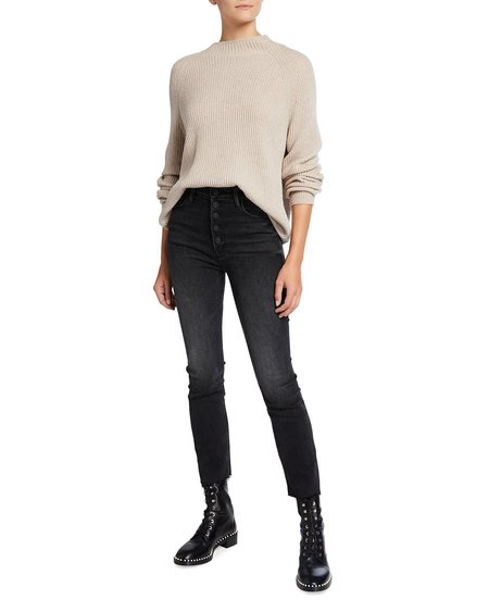 Mother Denim The Pixie Dazzler Ankle Fray Jeans - Night Shadow