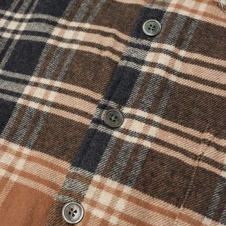 Our Legacy Above Shirt - Brown Plaid