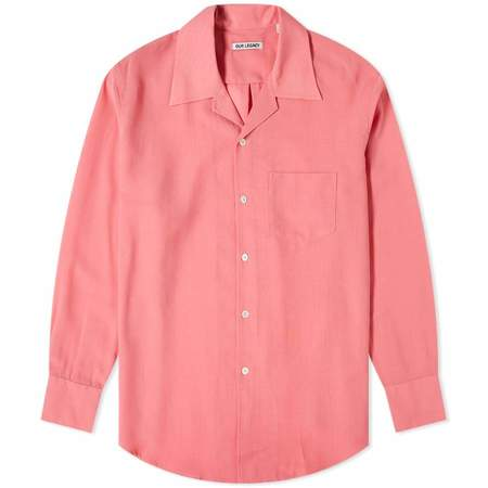 Our Legacy Loco Tech Wool Shirt - Pink