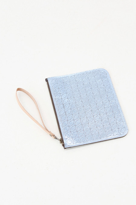 Molly Designs Metallic Leather Pouch Blue