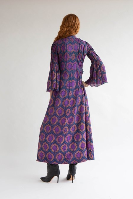 Vintage 1970s Annacat Dress - Purple