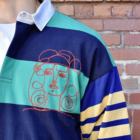 Tilted Brim Picasso 1-of-1 Rugby shirt - blue/green
