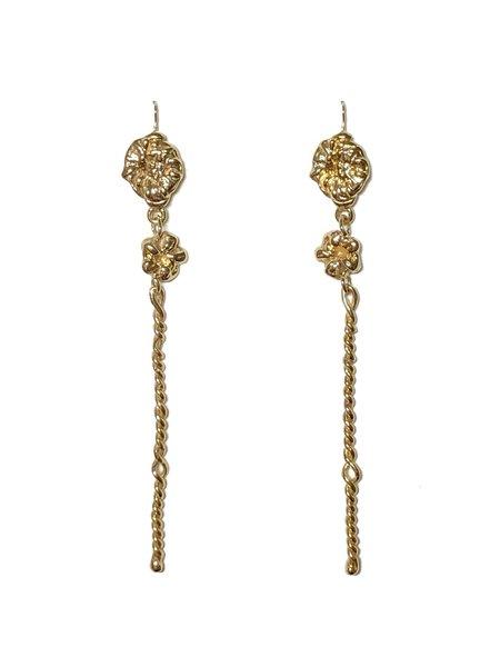 CLARK JEWELRY Ophelia Stem Earrings - 18K Gold Vermeil