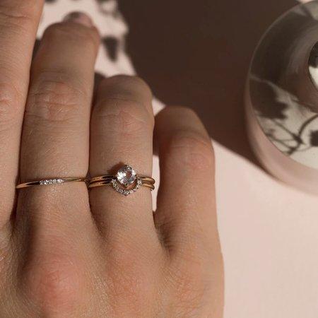 Leah Alexandra 14K Cinque Ring with Diamonds