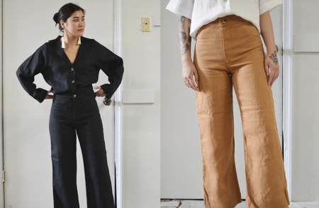 Coeur Mara Flair Linen Pants