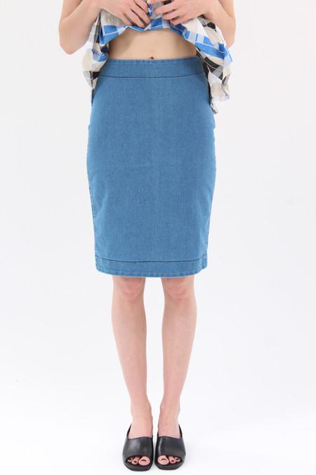 Prairie Underground Micro Line Denim Skirt