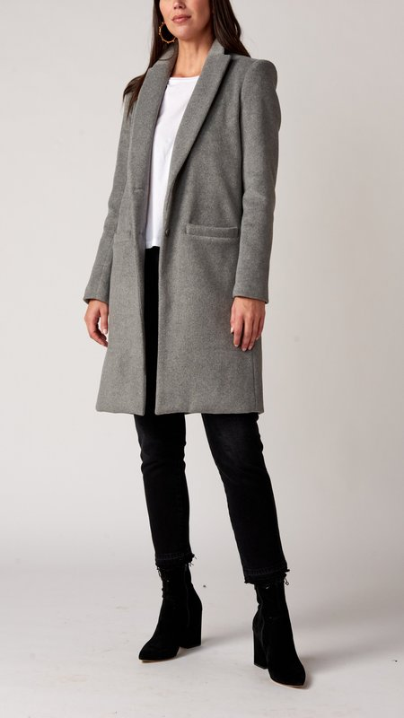 Emerson Fry Tailored Coat - Heather Grey