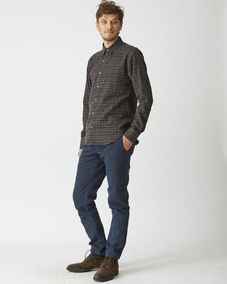 18Waits Dylan plaid Shirt - Brown/Black