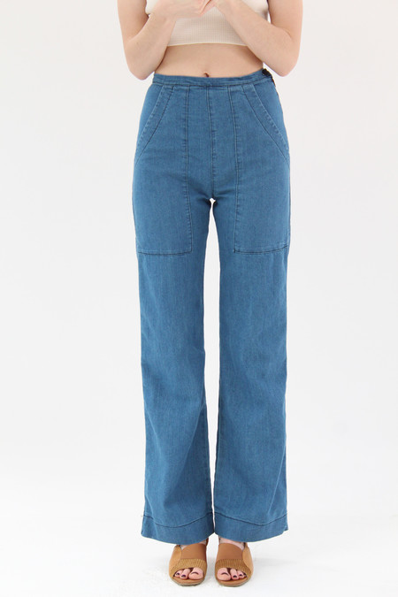 Prairie Underground Yr Arrow Pants Blue Wash Succulant