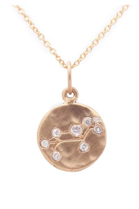 Valley Rose Leo Constellation Necklace - 14k gold/White Sapphire