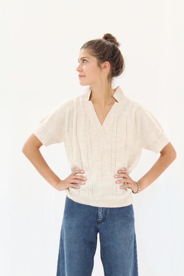 Rachel Comey Knit Polo Oatmeal