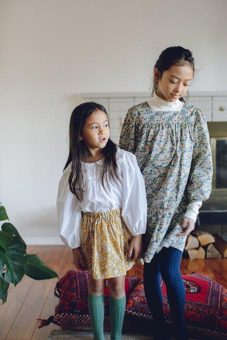 Kids Petits Vilains Esther Peter Pan Blouse - White