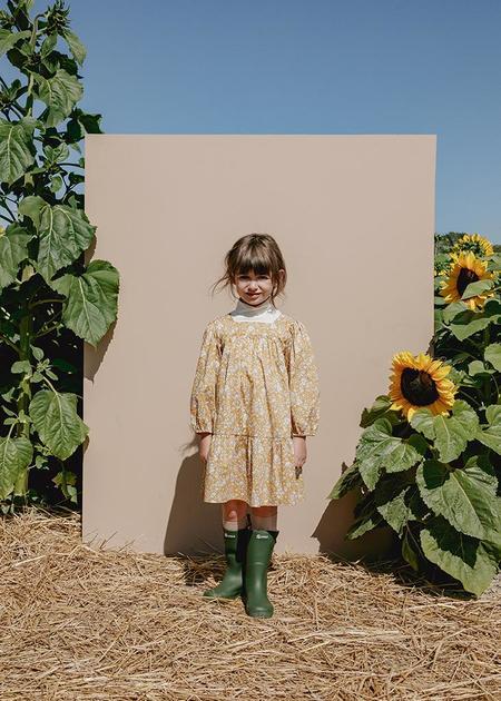 Kids Petits Vilains Maelle Square Neck Dress - Autumn Blooms