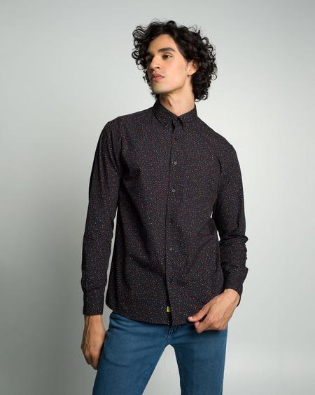 Poplin & Co. Casual Button Down Long Sleeve Shirt - Polka Pop