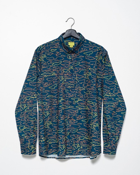 Poplin & Co. Casual Button Down Long Sleeve Shirt - Camo Movement