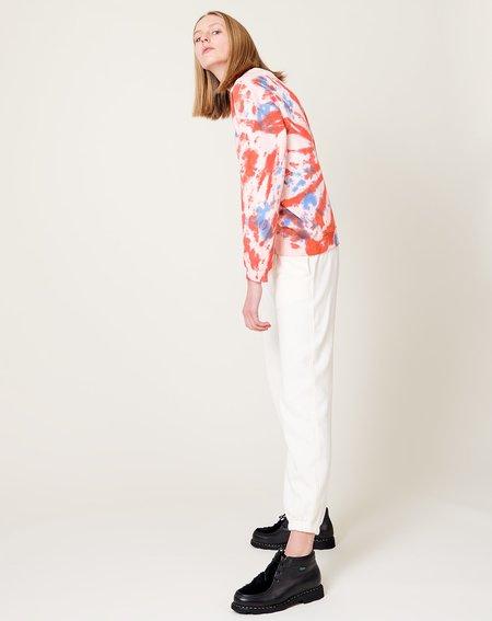 Clare V. Oui Sweatshirt - Blush Tie Dye