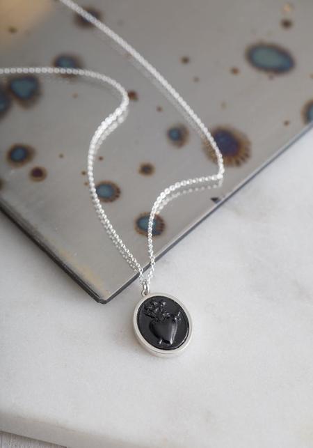 Talon Sacred Heart Intaglio Necklace - Sterling Silver
