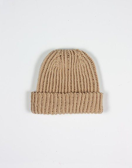 KIDS Noble Carriage Hand-Knit Beanie - Sand