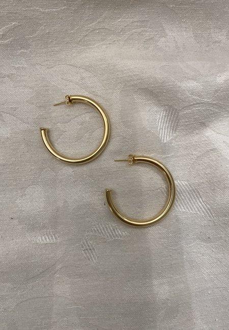 SS JEWELRY Big Hoops - Gold