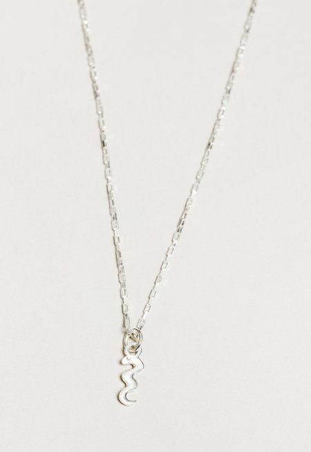 Wolf Circus Snake Charm Necklace - Silver