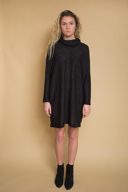 Uzi NYC Knit Cricket Dress - Black