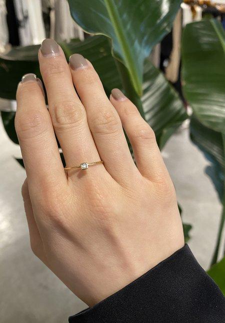Nicole Kwon Concept Store 14K Square Bezel Diamond Ring