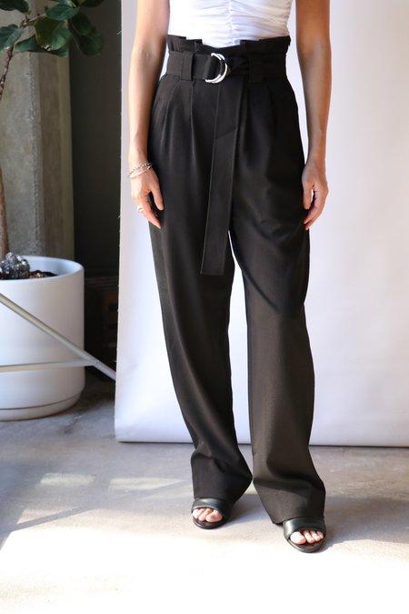 Ganni Heavy Crepe Belt Pants - Black