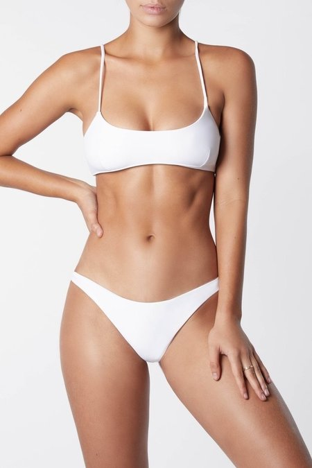 IT'S NOW COOL Crop Bikini Top - White