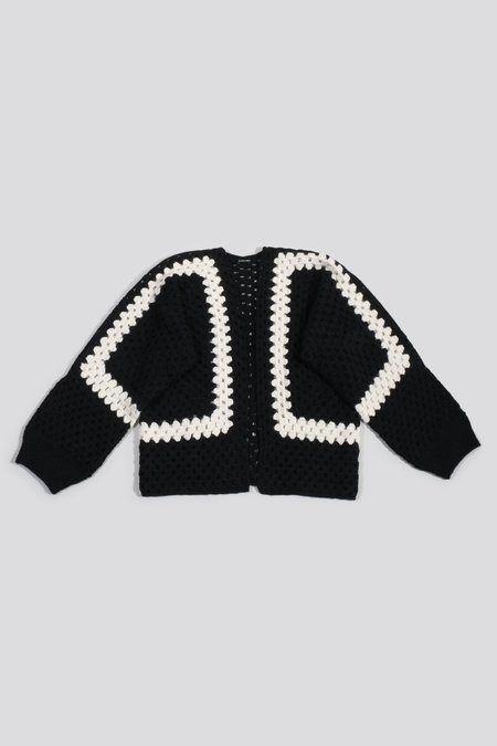 Rachel Comey Clavier Cardi - Black Multi Winter Crochet
