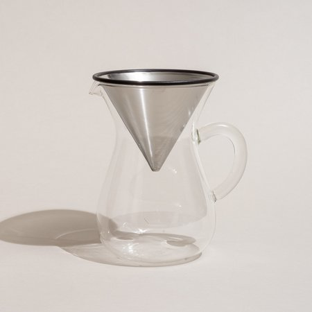 Kinto Japan SCS Coffee Carafe Set - Stainless Steel/Glass