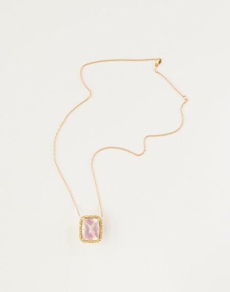 Jessica Farrugia Rose Quartz and Peridot Pendant