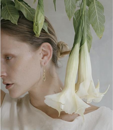 Amanda Hunt Flora Hook Earrings - Silver