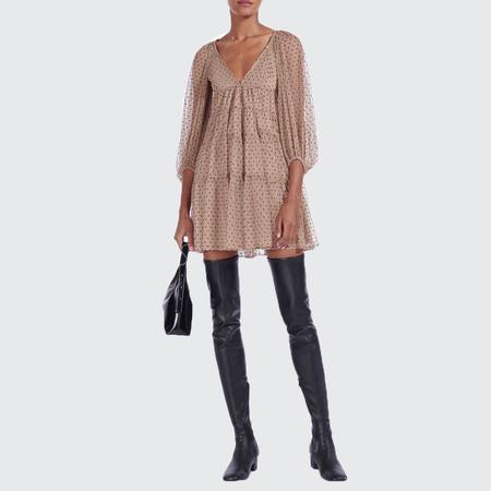 Staud Mini Meadow Dress - NUDEBLK