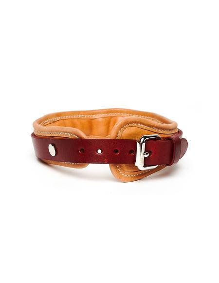 Guidi Big Leather Dog collar - Beige